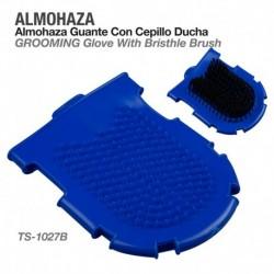 Almohaza guante con cepillo ducha