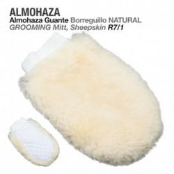 Almohaza guante borreguillo natural