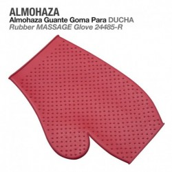 Almohaza guante goma ducha