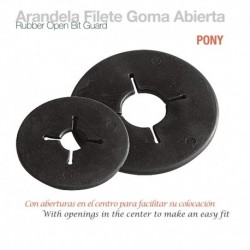 Arandela filete goma abierta pony