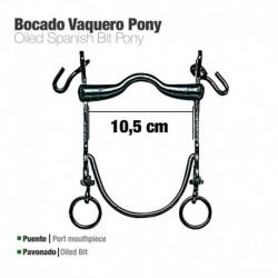 Bocado vaquero barra curva pony pavonado