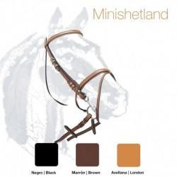 Cabezada montar cuero Pony Minishetland