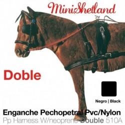 Enganche pechopetral pvc/nylon Minishetland doble