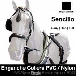 Enganche collera pvc/nylon sencillo