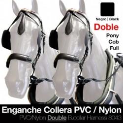 Enganche collera pvc/nylon doble