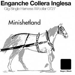 Enganche a la inglesa con collera Minishetland