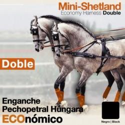 Enganche pechopetral a la Húngara doble ECO. Minishetland