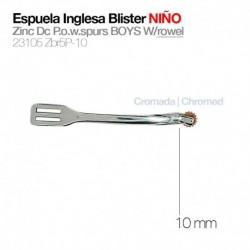 Espuela inglesa blister niño gallo 10 mm