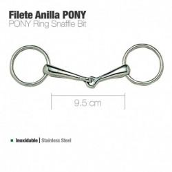 Filete anilla inox Pony y caballo miniatura