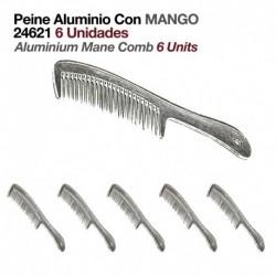 Peine aluminio con mango