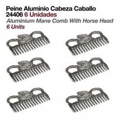 Peine aluminio cabeza caballo