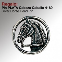 Pin plata cabeza caballo 4