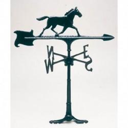 Veleta caballo de aluminio negro