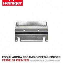 Peine 31 dientes Esquiladora Delta Heiniger
