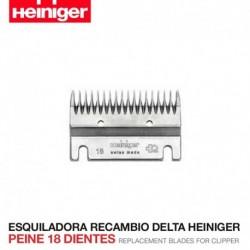 Peine 18 dientes Esquiladora Delta Heiniger