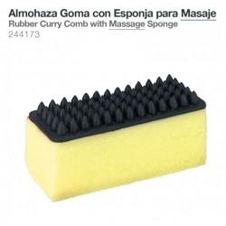 Almohaza goma con esponja para masaje