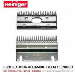 Set peine 21 y cuchilla 23 Esquiladora Delta Heiniger