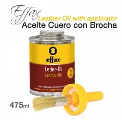 Effax aceite cuero lederol con brocha