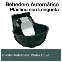 Bebedero automático plastico para caballos con lengüeta