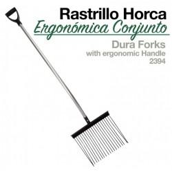 Rastrillo horca ergonómica conjunto