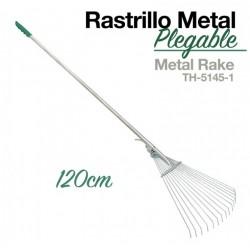 Rastrillo metal plegable