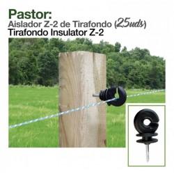 Aislador Z-2 de tirafondo para pastor eléctrico o cerca eléctrica