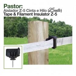 Aislador Z-5 cinta e hilo para pastor eléctrico o cerca eléctrica