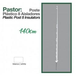 Poste plástico 8 aisladores 140 cm