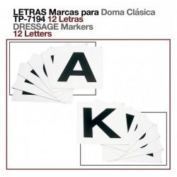 Letras marca para doma clásica 12Ud.