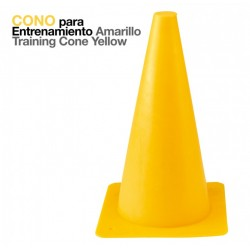 Cono amarillo para entrenamiento