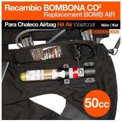 Recambio de bombona del chaleco airbag