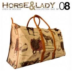 Bolso grande viaje colección Horse&Lady 8 motivo caballos