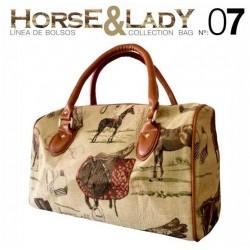 Bolso viaje colección Horse&Lady 7 motivo caballos