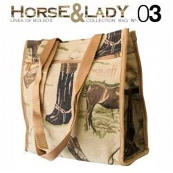 Bolso paseo colección Horse&Lady 3 motivo caballos