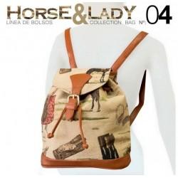 Mochila colección Horse&Lady 4 motivo caballos