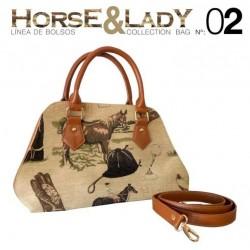 Bolso y bandolera colección Horse&Lady 2 motivo caballos