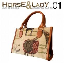 Bolso asa corta colección Horse&Lady 1 motivo caballos