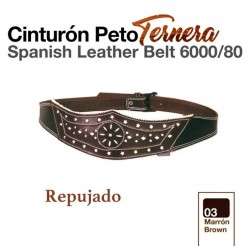 Cinturón peto ternera marrón