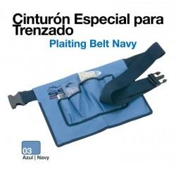 Cinturón especial para trenzado azul