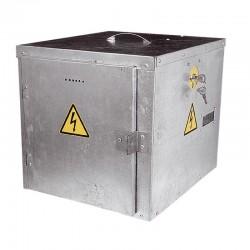 Caja antirrobo electrificada para pastor eléctrico y batería